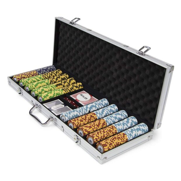 JP Commerce Monte Carlo Clay Poker Chips Set