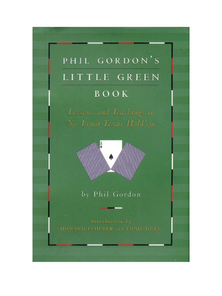 Little Green Book: Lessons and Teachings in No-Limit Texas Hold'em